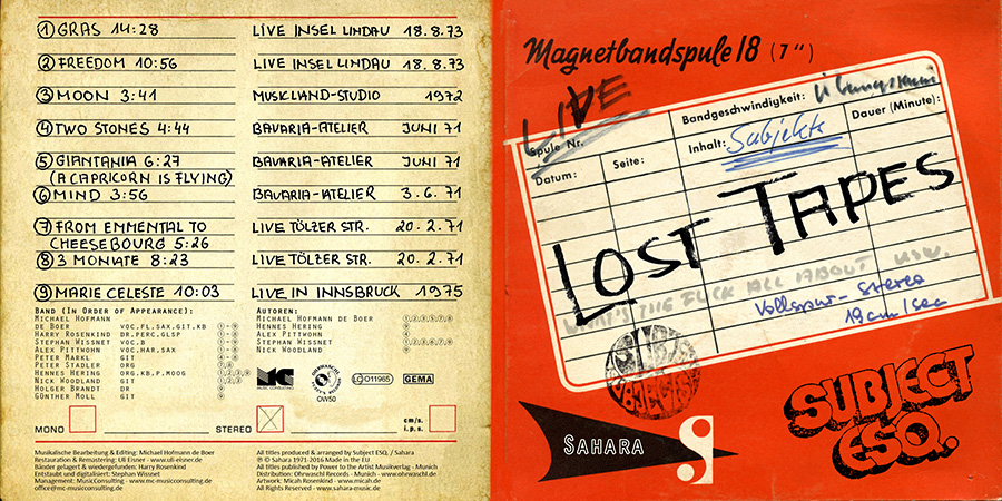 CD-Cover Lost Tapes